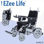4G Bariatric Electric Folding Wheelchair - 500 lb Capacity - CH4075