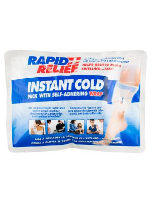 Rapid Relief Instant Cold Pack with Self-Adhering Wrap and Gentle Touch