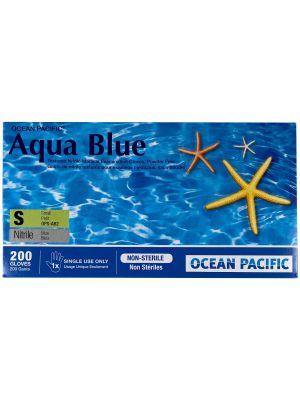 Aqua Blue Nitrile Gloves - 200 / Box