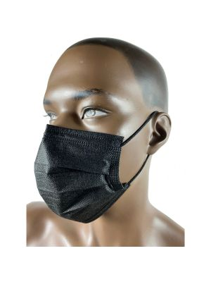 Black 3 Ply Masks - Boxes of 50