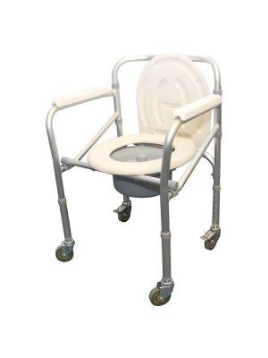 Economy Folding Wheeled Commode CH1025