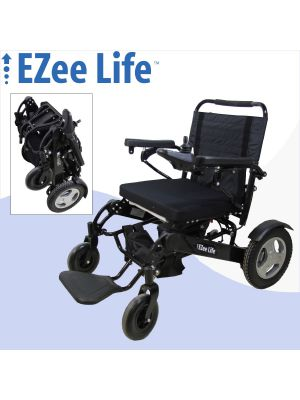 Bariatric Electric Folding Wheelchair - 352 lb Capacity - 21
