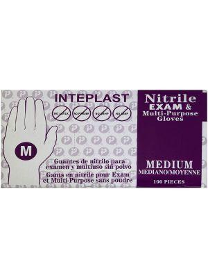 Inteplast Medium Nitrile Exam Gloves - 100 / Box