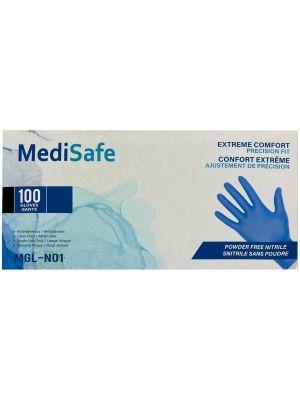 MediSafe Large & X-Large Nitrile Exam Gloves - 100 / Box