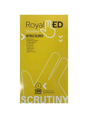 RoyalMed Scrutiny Nitrile Gloves - 100/Box - Large