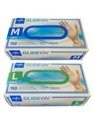 Medline Vinyl Examination Gloves 150 / box