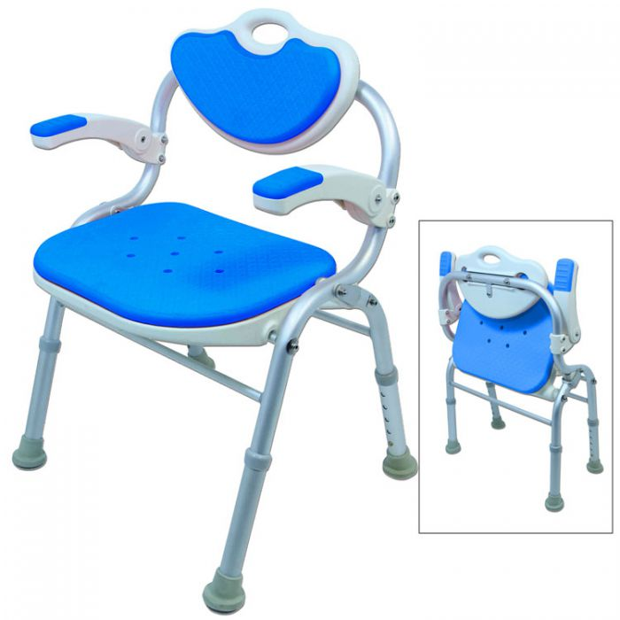 Phenomenal Ezee Life Folding Bath Chair Ch1063 Gmtry Best Dining Table And Chair Ideas Images Gmtryco